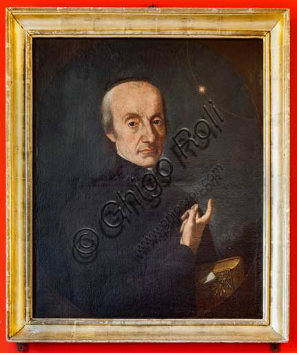 "Palermo, The Royal Palace or Palazzo dei Normanni (Palace of the Normans), the Pisana Tower, The Astronomical Observatory ""Giuseppe Piazzi"" : painting which portrays the astronomer Giuseppe Piazzi. His most famous discovery was the first dwarf planet, Ceres."