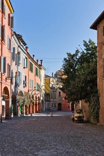 Modena: partial view of Piazza della Pomposa (Pomposa Square).
