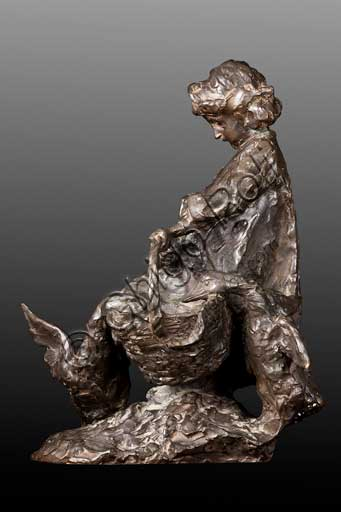 "Assicoop - Unipol Collection:  Giuseppe Graziosi (1879 - 1942), ""The raid"", bronze, 40 X 21 X 30."