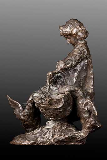 """Collezione Assicoop - Unipol,inv. n° 458:  Giuseppe Graziosi (1879 - 1942), """"Il saccheggio""""; bronzo, 40 x 21 x 30."""