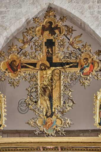 Croazia, Ragusa (Dubrovnik), chiesa di San Domenico: Paolo Veneziano,  polittico della Crocifissione(1359?), particolare.