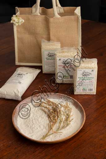 Typical products: different kind of rice and rice flour made in Jolanda di Savoia (the rice capital in the area of the Po Delta).