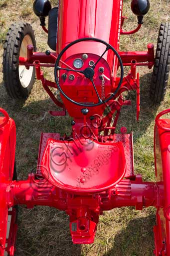 Old Tractor. Detail.Make: PorscheModel: JuniorYear: 1962Fuel: Diesel oilNumber of Cylinders: 1Displacement: 1.600 ccHorse Power: 15 HPCharacteristics: