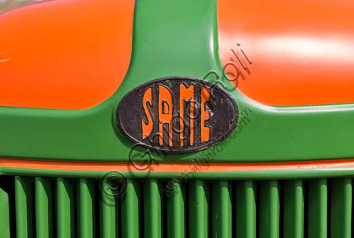 Old Tractor. Detail.Make: SAMEModel: Sametto 17Year: 1956Fuel: Diesel oilNumber of Cylinders: 1Displacement:Horse Power: 17 HPCharacteristics: