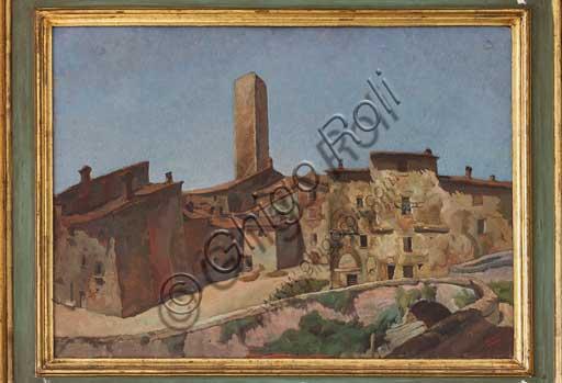 "Assicoop - Unipol Collection: Mario Vellani Marchi (1895 - 1979); ""Gubbio"" (Oil on plywood, 49 x 66)."