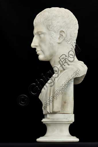 "Assicoop - Unipol Collection: Giuseppe Pisani (1854 - 1894); ""Bust of Francesco Iv Este""; marble bust, h cm. 60."
