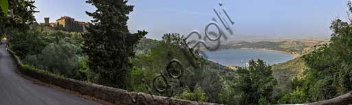 View of Populonia and the Baratti Gulf.