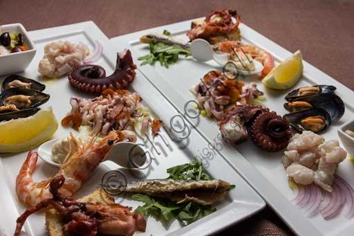 Restaurant La Rocchetta: seafood appetizer.
