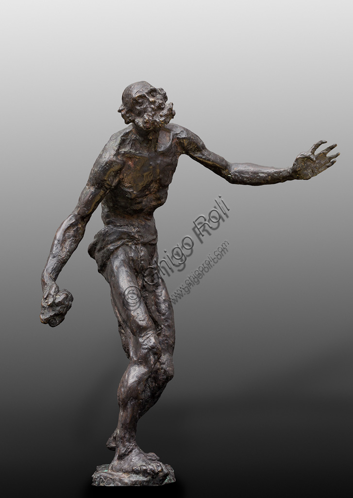 "Assicoop - Unipol Collection:Giuseppe Graziosi (1879 - 1942): ""St. Jerome"". Bronze, height cm 60."