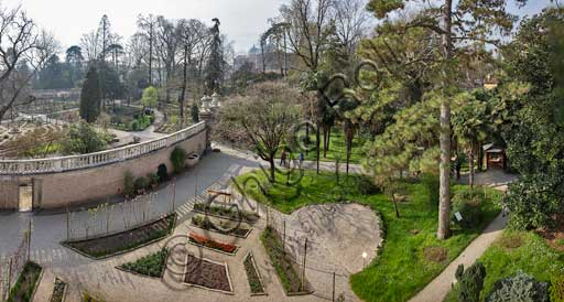 Padova, the Botanical Garden: view of the Hortus Cinctus.