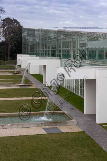 Padova, the Botanical Garden: the big greenhouse of the Garden of Biodiversity.  I