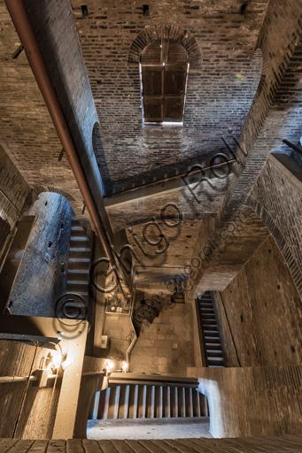 Modena, Ghirlandina Tower: view of the internal stairway.