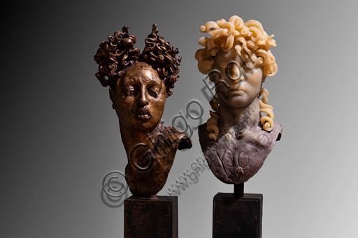 "Fontanellato, Labirinto della Masone, Franco Maria Ricci Art Collection, temporary art Exhibition, one of Javier Marìn's Sculptures: ""Cabeza Bruselas"", 2010. Bronze"