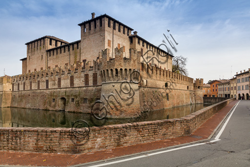 Fontanellato, Rocca Sanvitale: view of the fortress.