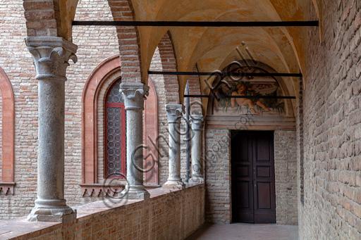 Fontanellato, Rocca Sanvitale: partial view of a lodge..