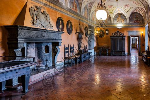 Fontanellato, Rocca Sanvitale: the weapons hall.