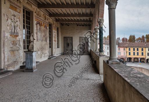 Fontanellato, Rocca Sanvitale: the lodge of the fortress.