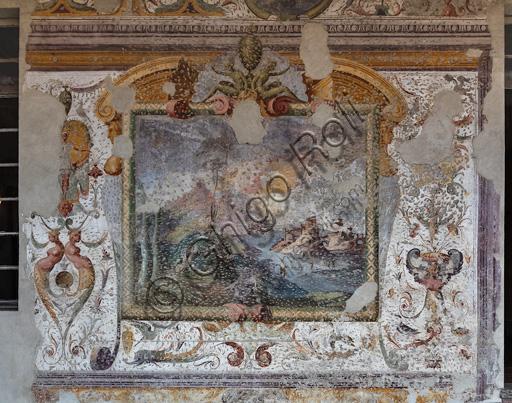 Fontanellato, Rocca Sanvitale, the lodge of the fortress: fresco.
