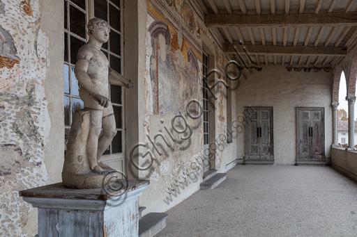 Fontanellato, Rocca Sanvitale the lodge of the fortress.