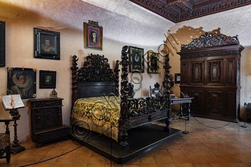 Fontanellato, Rocca Sanvitale: bedroom.