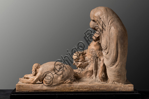 "Assicoop - Unipol Collection: Ermenegildo Luppi (1877 - 1937), ""La Pietà, i.e. Lamentation over the Dead Christ"", terracotta (earthenware) sketch."