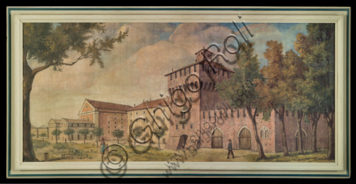 "Assicoop - Unipol Collection:Unknown artist, ""The Castle of Mirandola"", tempera."