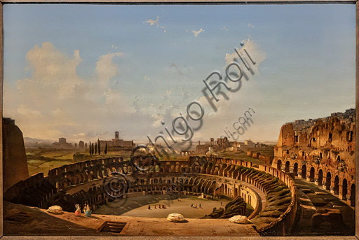 """Ippolito Caffi: """"Interior view of the Colosseum """", oil painting, 1855."""