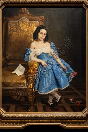 """Francesco Hayez: """"Ritratto della contessina Luigia Negroni Prati Morosini"""", olio su tela, 1867."""