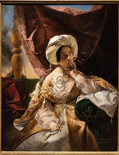 """Giuseppe Molteni: """"Schiava dell'harem"""", olio su tela, 1838."""
