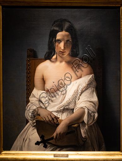 "Francesco Hayez: ""La meditazione"", olio su tela, 1838."