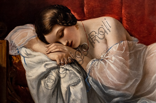 "Natale Schiavoni: ""The Sleep of Innocence"", oil painting, 1841. Detail."