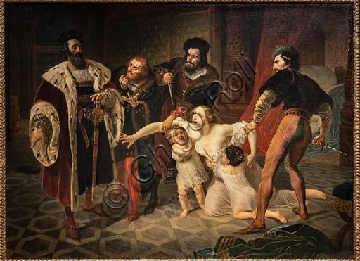 """Karl Pavlovič Brjullov: """"Ines Di Castro nel momento di essere sacrificata (La morte di Ines Di Castro); dipinto a olio, 18."""