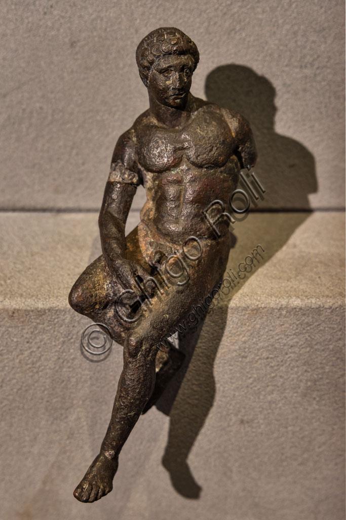 "Brescia, ""Santa Giulia, Museum of the City"" (Unesco site since 2011): ""Sitting Mercury"" (IV century BC). The bronze figurine copies the model of the Lysippos' Greek school."