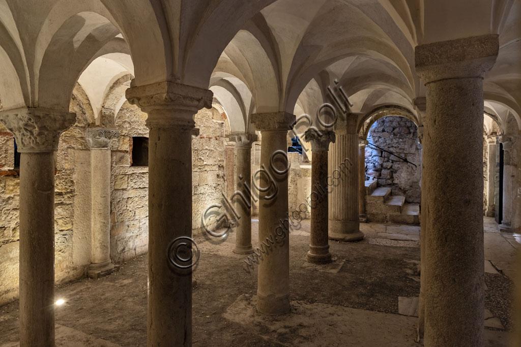 "Brescia, ""Santa Giulia, Museum of the City"" (Unesco site since 2011), interior of the Chruch of San Salvatore: the Romanesque crypt."
