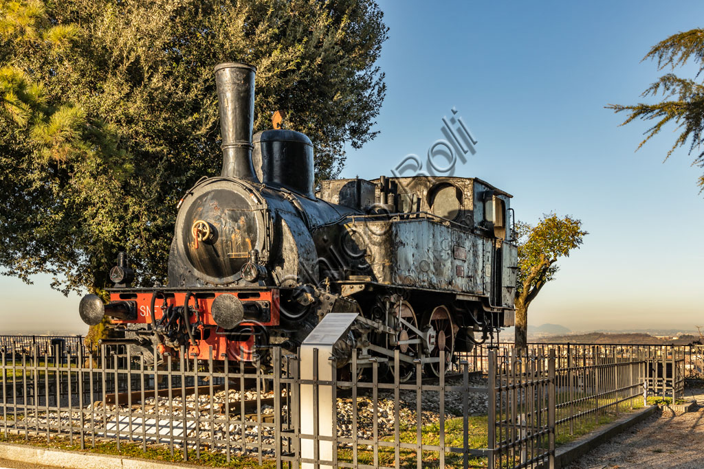 Brescia: steam locomotive of the early twentieth century.
