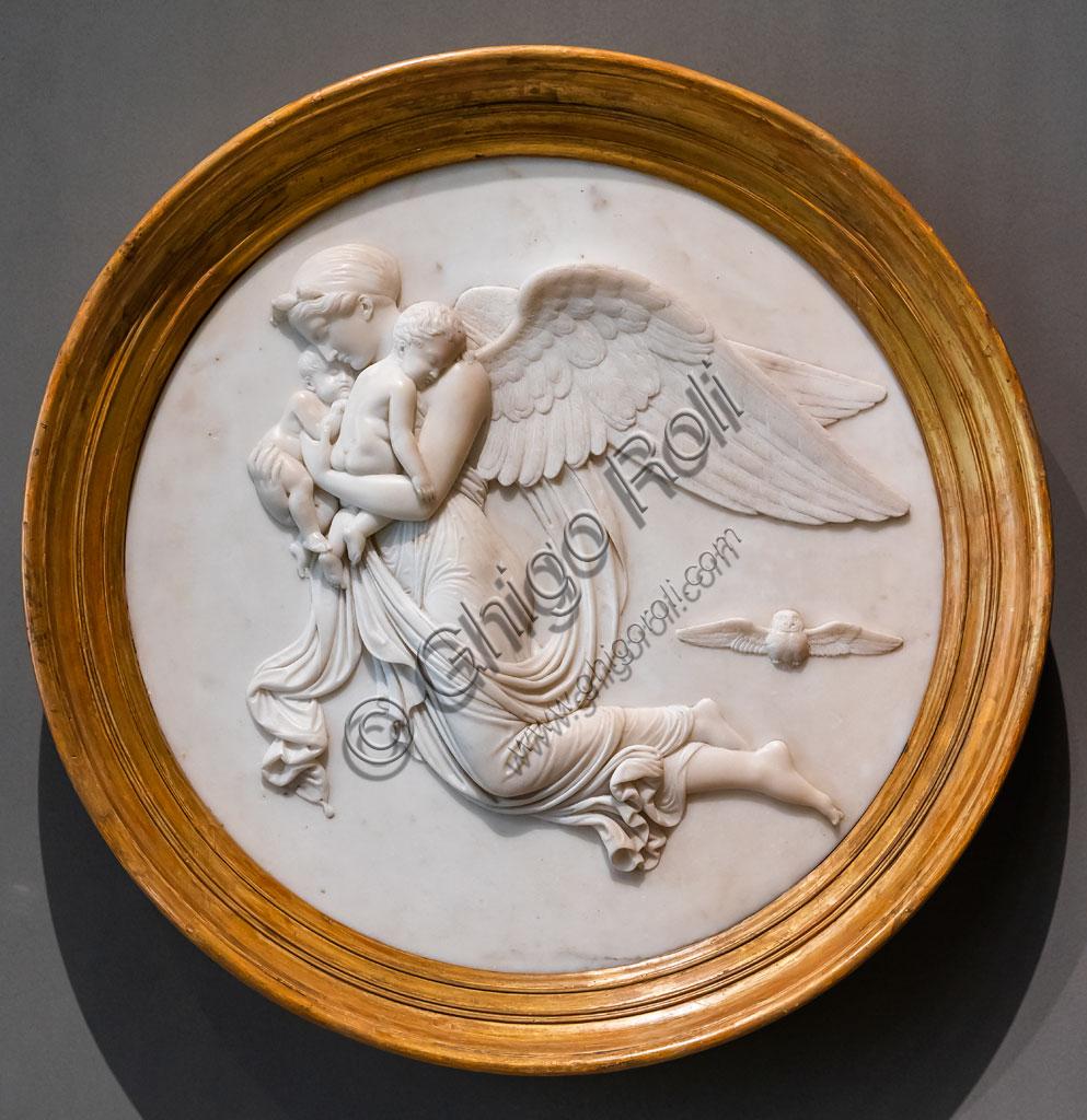 """Brescia, Pinacoteca Tosio Martinengo: """"La notte"""", di Bertel Thorvaldsen,1821. Marmo."""