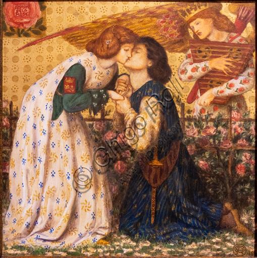 """""""Roman de la Rose"""", (1864)  di Dante Gabriel Rossetti (1828-1882); acquerello su carta."""