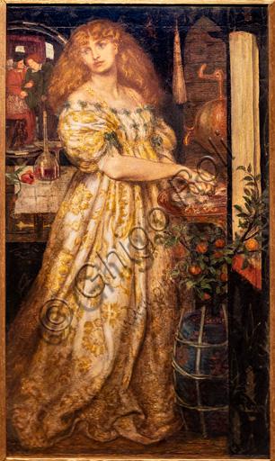 """""""Lucrezia Borgia"""", (1860-1)  di Dante Gabriel Rossetti (1828-1882); grafite e acquerello su carta."""