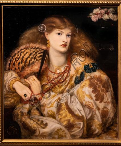 """""""Monna Vanna"""", (1866)  di Dante Gabriel Rossetti (1828-1882); olio su tela. La modella è Alexa Wilding."""