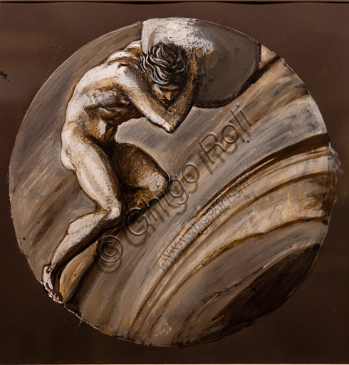 """Sisifo"" (1870)  di Edward Coley Burne - Jones  (1833 - 1898); tempera su carta."