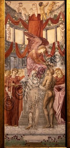 """""""Il tempo dell'amore"""", 1872 di Edward Coley Burne - Jones  (1833 - 1898); olio su tela."""